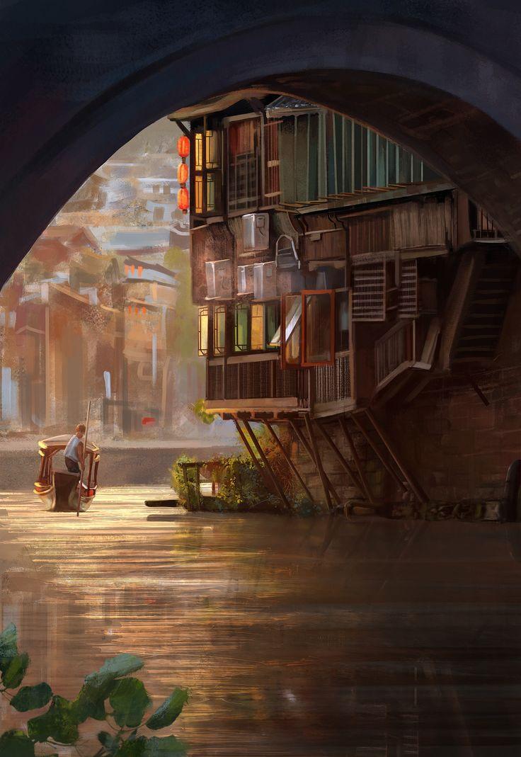 ArtStation - Canal - study, Mandy Jurgens