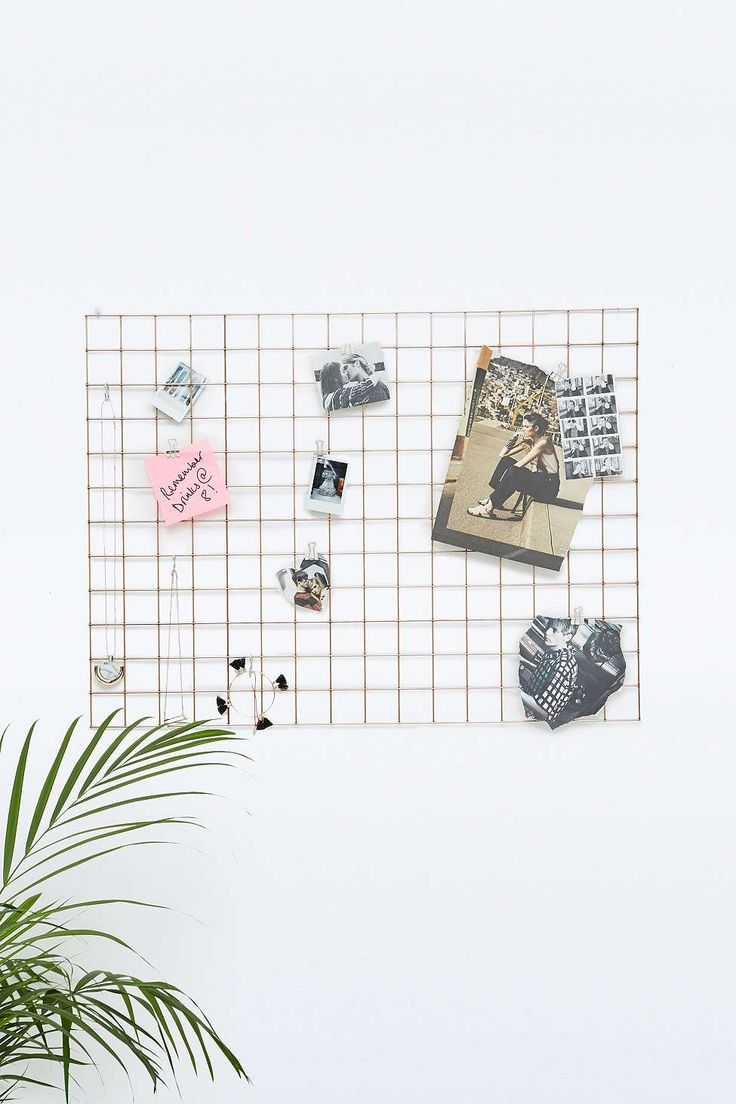 Gold Mesh Wire Memo Board - use it for your postcards, photos, jewellery...anything really!