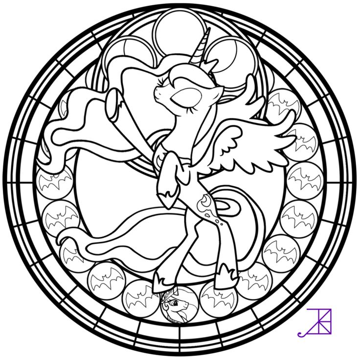 Stained Glass Luna Season 2 Take Line Art By Akili Amethyst On DeviantArt Find This Pin And More My Little Pony