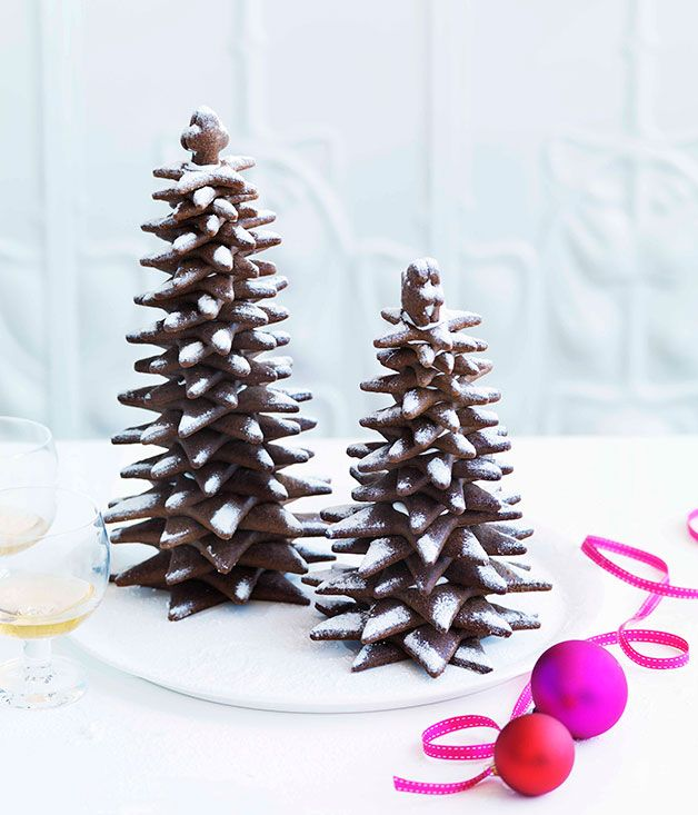 Australian Gourmet Traveller Christmas dessert recipe for gingerbread Christmas trees by Adriano Zumbo.                                                                                                                                                                                 More