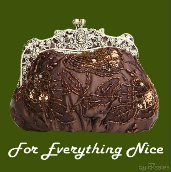 Copper Antique Frame Beaded Bejewled Sequined Evening Bag Bridal Purse by JRMB7339 - $90.00