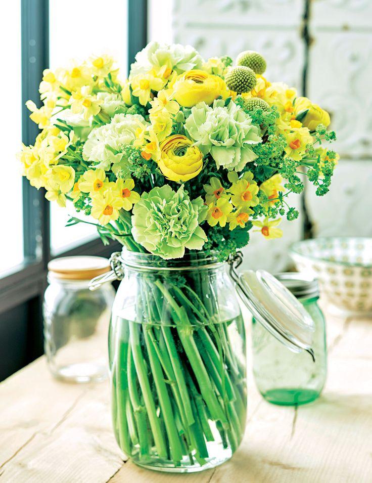 Bouquet de #printemps : Une floraison aux nuances de jaune