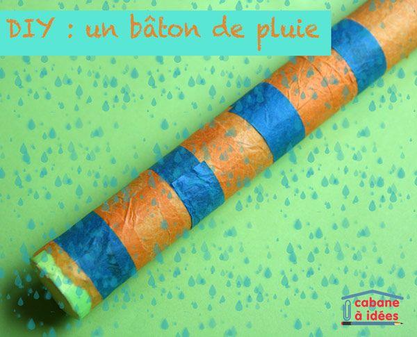 Le bâton de pluie est un instrument de musique ! Fabriquez en un avec vos enfants grâce à ce DIY!