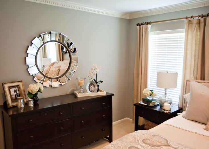 Master Bedroom Makeover sunburst mirror http://cuphalffull-sf.blogspot/# | home decor