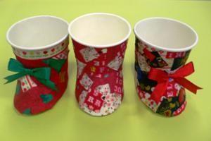 【学童/工作】紙コップでクリスマス・ブーツ | Edelweiss-大切な思い出-