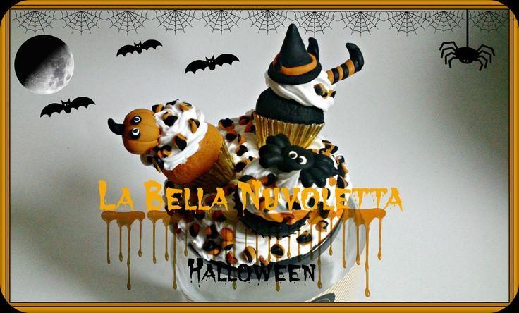 Bote decorado con Fimo Halloween La Bella Nuvoletta