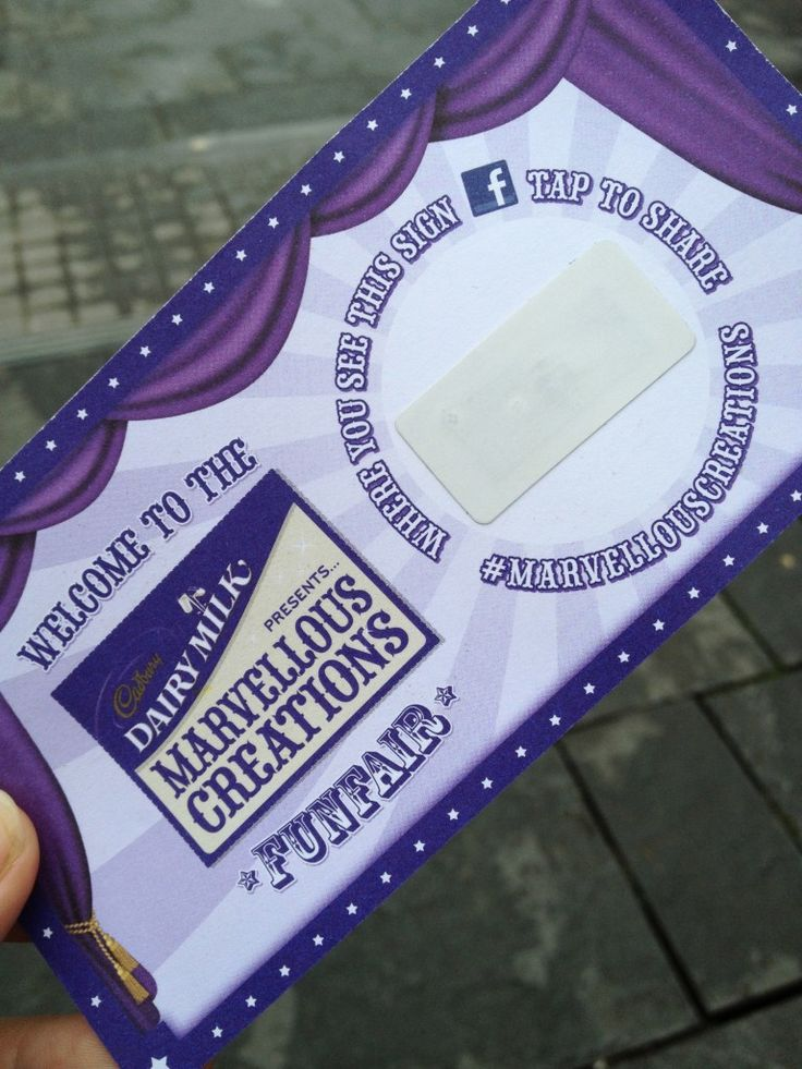 NFC card at Cadbury's Marvellous Creations Experiential Event #SquaredOnline