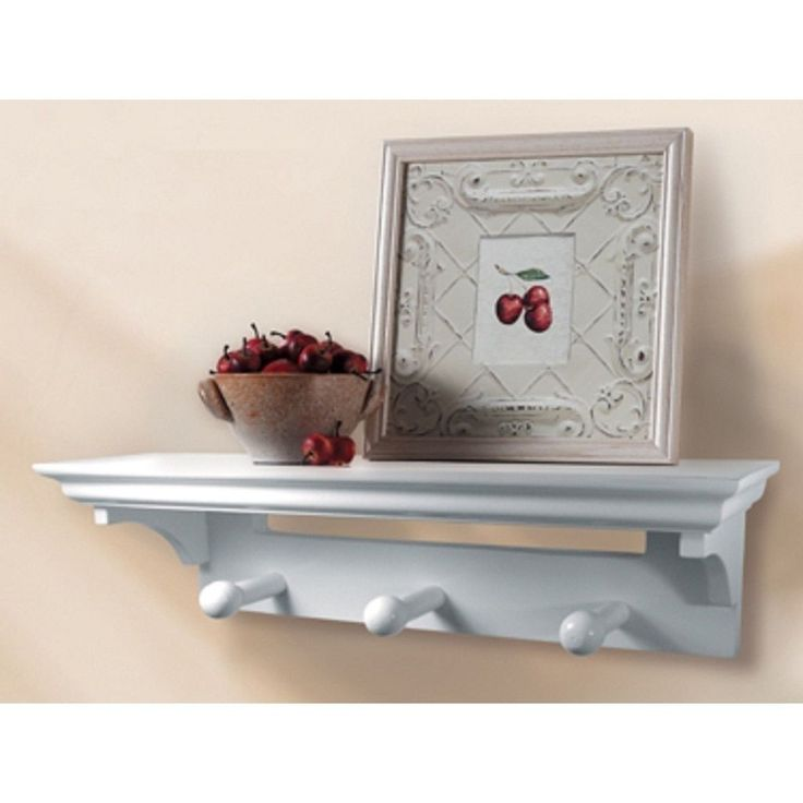 Lewis Hyman InPlace White Shelf with Pegs 17 inches wide