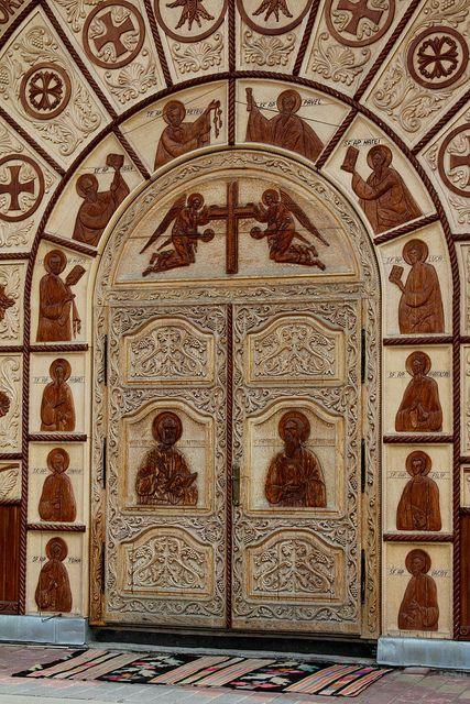 Stunning door Biserica de Lemn - Ortodoxa - Cârlibaba, Jud. Suceava, Romania by Wayne W G