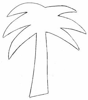 palm tree cutting template  Iris Fold  Origami