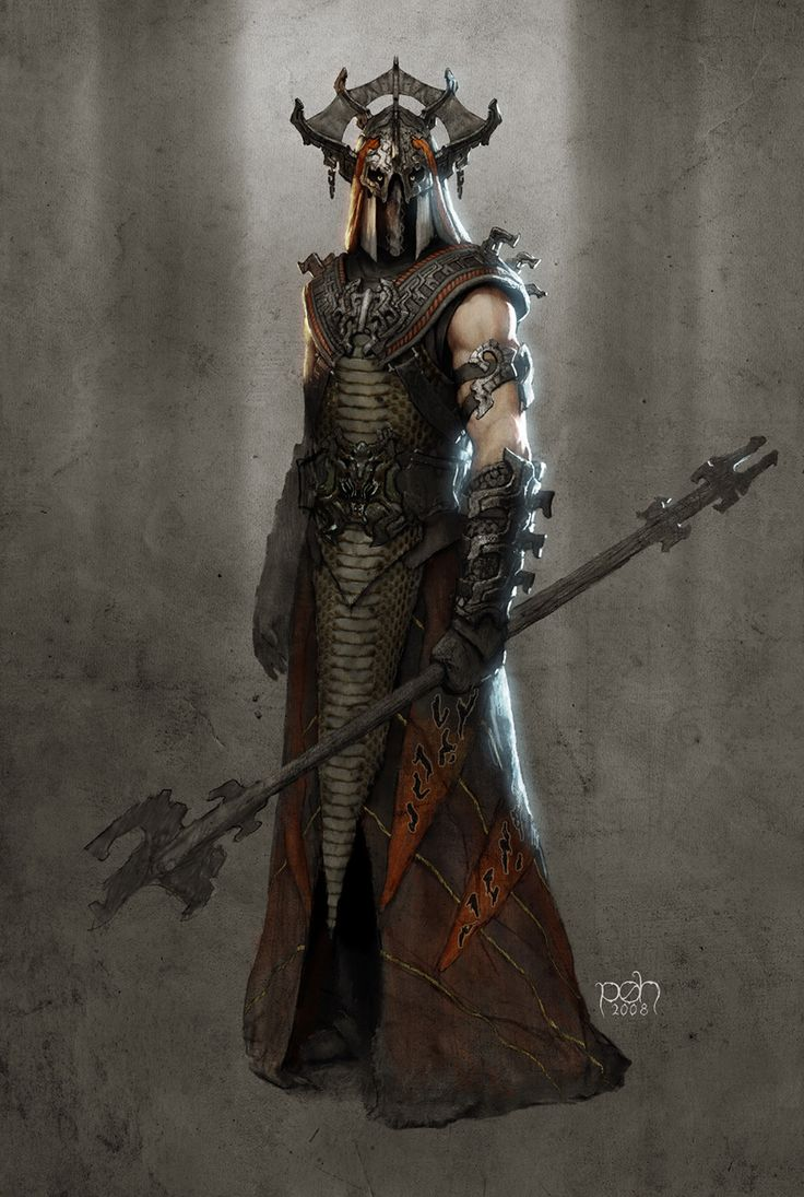 I sort of imagine that this is another way Sauron might have looked in life.