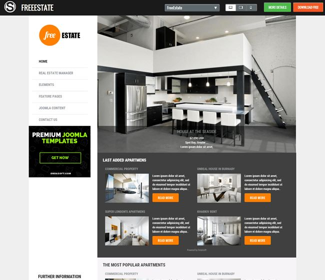 Free Estate - Free responsive template for Joomla 3.x