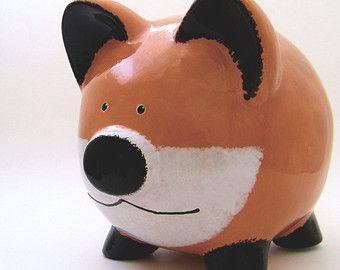 Hucha de Panda personalizadas Piggy Banco oso Panda por ThePigPen