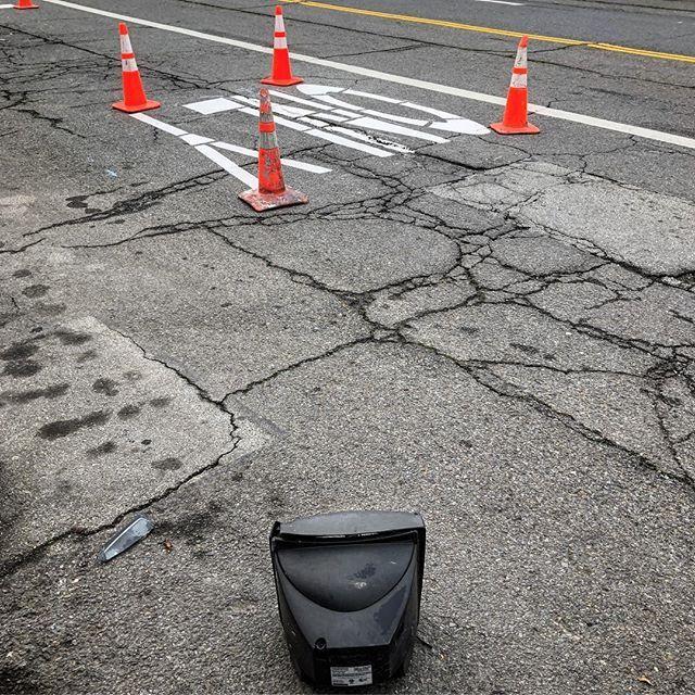 #sf #safetycone #orangecone #trafficcone #only #streetmarkings #pavement #roadconstruction #crt #tv #watchingtv