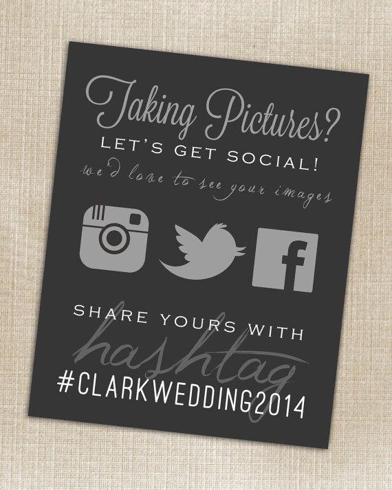 Hashtag Print  Wedding Instagram Facebook Twitter by PrincessSnap