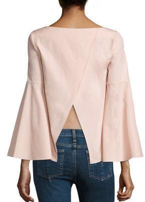 Alice + Olivia Shirley Crossback Cotton Tunic