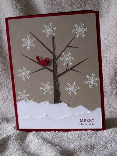 Cardinal and Snowflakes by enm1974 - Cards and Paper Crafts at Splitcoaststampers