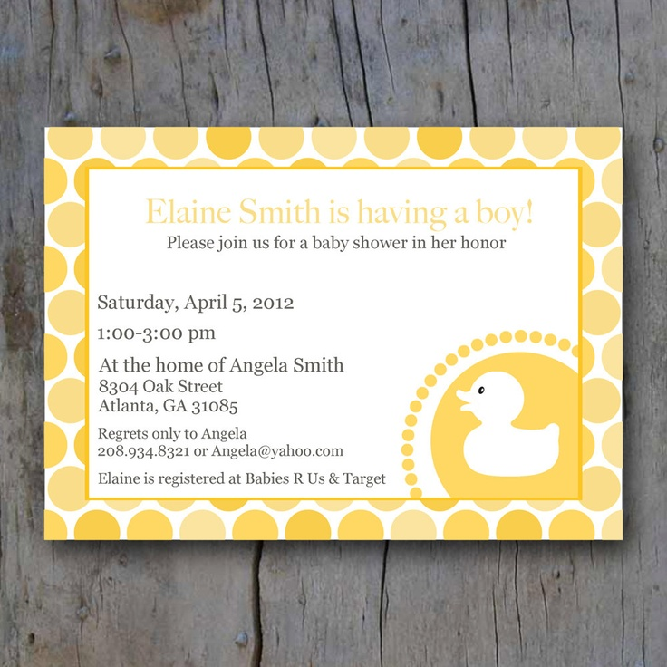 free printable camo baby shower invitations templates%0A Printable rubber duck baby shower invite          via Etsy