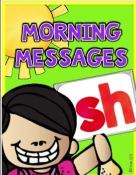 SH - DIGRAPH themed morning messages:  Great way to strengthen students' reading skills.  Quick and easy morning work that is easy to implement. $