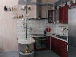 Дизайн угловой кухни с барной стойкой с фасадами лдсп - где заказать? Купить по выгодным ценам - PalmiraMebel.ru