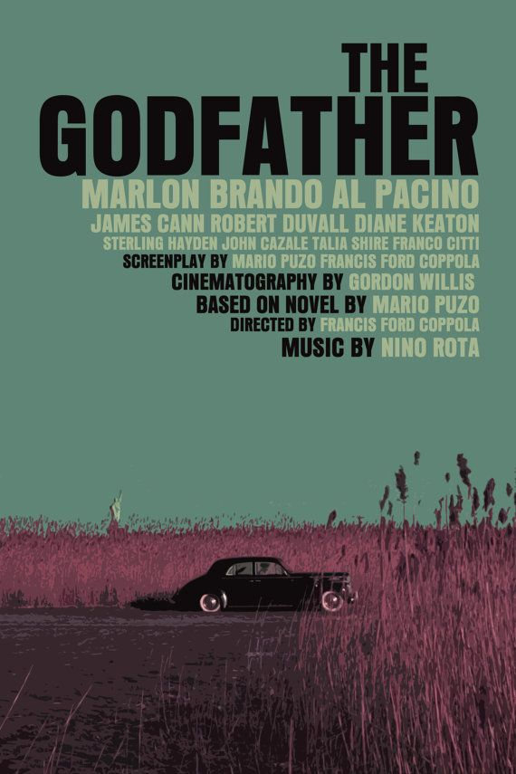 The Godfather Trilogy 3 Movie Poster by FunnyFaceArt on Etsy, $30.00 - sharp print.