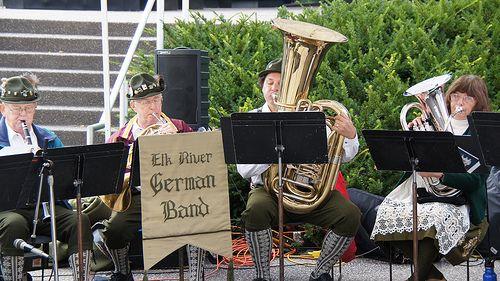 Oktoberfest music..  Mandatory for any Bavarian party!