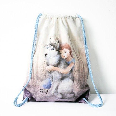backpack bag husky dog