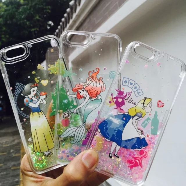 Bling Glitter Paillette Crystal Hard PC Snowwhite Princess Cinderella Mermaid Quicksand Carcase Coque Case For iphone 6 S 6plus   iPhone Covers Online