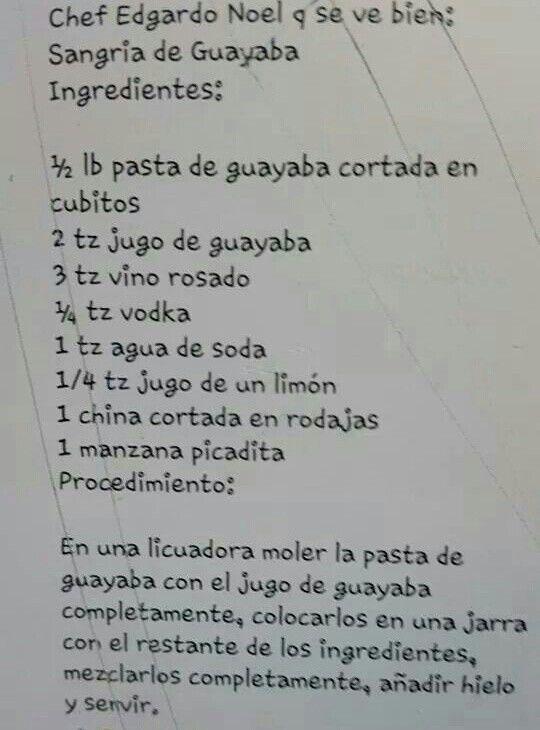 Sangría de Guayaba
