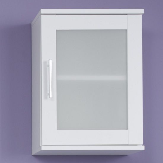 nice Onix Bathroom Wall Mounted Cabinet In White And Glass Fronts Check more at http://hasiera.co.uk/s/bathroom/product/onix-bathroom-wall-mounted-cabinet-in-white-and-glass-fronts/