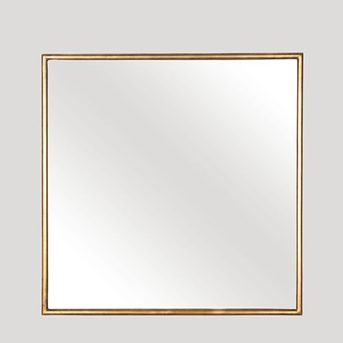 Another stunning simple gold framed mirror - square this time!