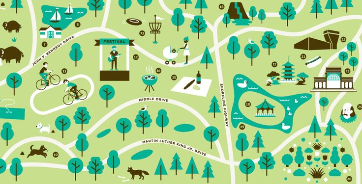 An Illustrated Guide to Golden Gate Park - even us natives could use a map of the park.