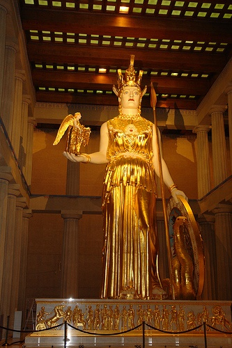 Athena, Nike-in-hand.  In the Parthenon, Nashville~ Percy Jackson and the Lightning thief filmed here(they used a faux athena)!
