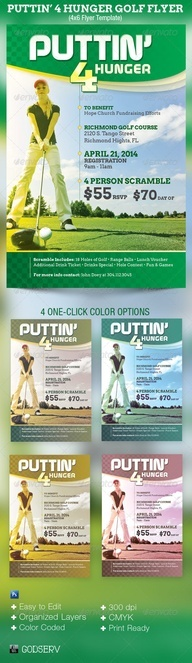 71 best Charity Flyer Templates images on Pinterest Flyer - golf tournament brochure