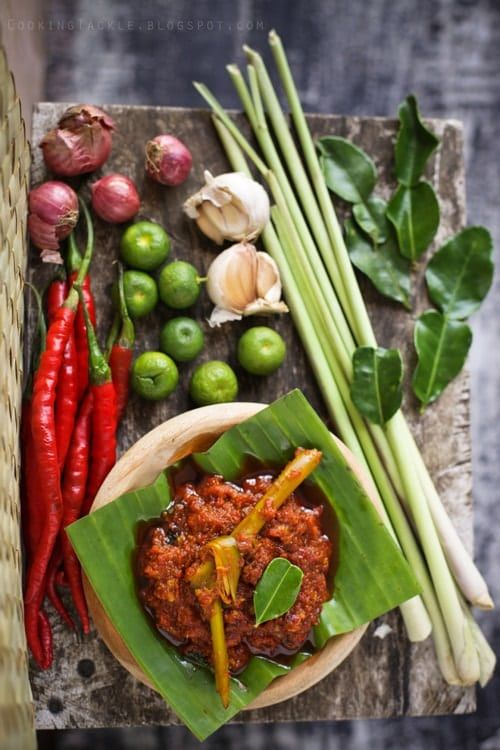 Balinese Chicken (Ayam Pelalah) recipe - This chicken is an everyday dish as well as a ceremonial staple. Balinese food is spicy and calls for numerous spices in the preparation process, but it's well worth it! | rasamalaysia.com
