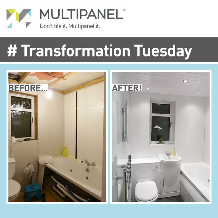 #TransformationTuesday Brighten up your bathroom with Multipanel.
