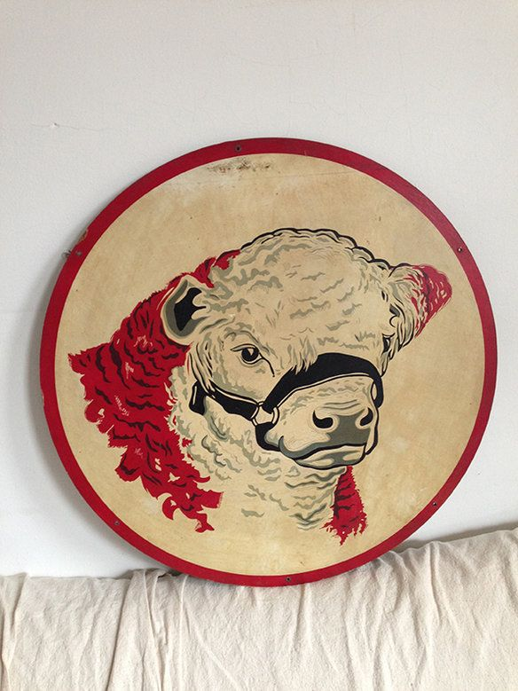 Vintage Graphic Cow Head Sign in Park Slope, Brooklyn ~ Apartment Therapy Classifieds