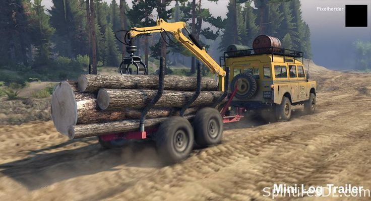 Land Rover Series III 109 with Mini Log Trailer v2.2 - Spintires
