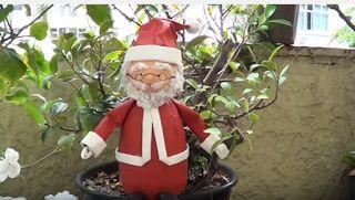 Come fare Babbo Natale con materiale riciclato, tutorial semplice - I Love Artigianato