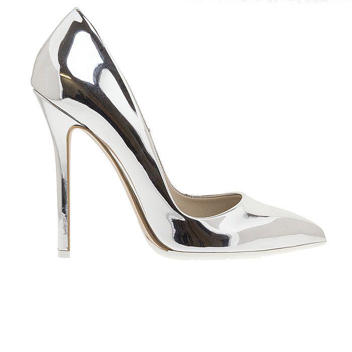 1203A00-SILVER SPEC www.mourtzi.com #pumps #heels #mourtzi #greekdesigners #wow #bridal #mirror