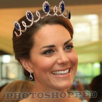 Kate Duchess of Cambride, Sapphire Necklace Tiara Edit ...