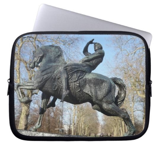 #zazzle  #Neoprene #Laptop #Sleeve #10 inch #office #home #travel #gift #giftidea #Riding #Horse #Statue
