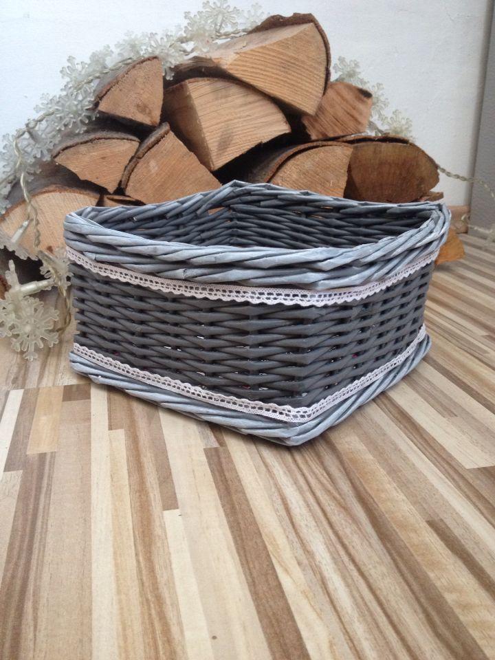 Paper basket grey&white @MadeByIwo