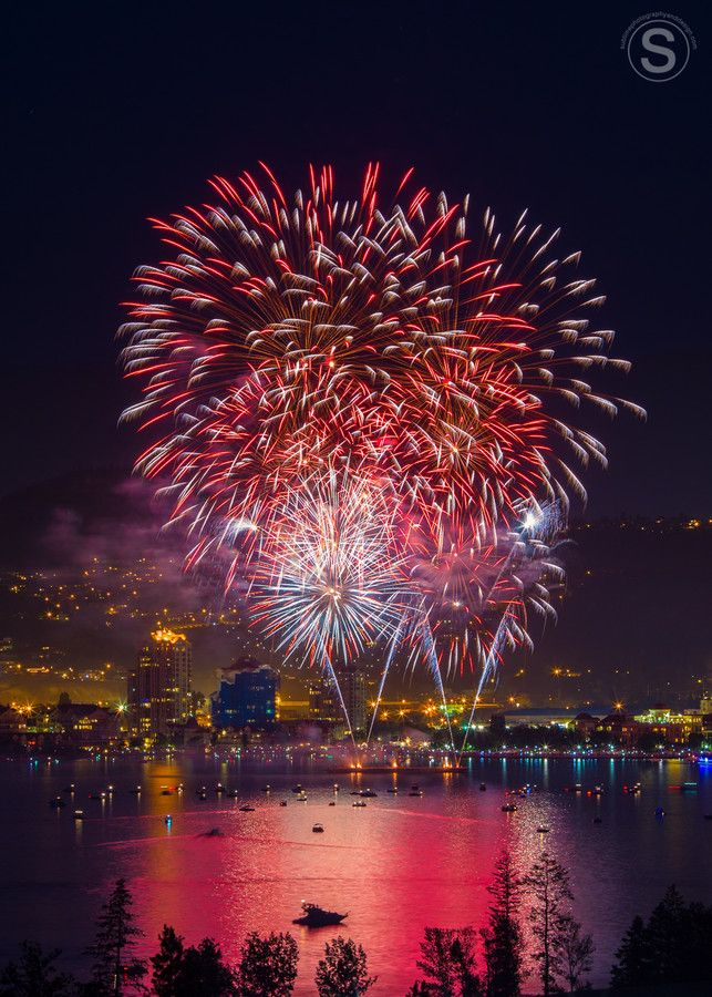 Canada Day Fireworks | Kelowna, British Columbia  July 1st. -- Curated by: Nicola's Laser Studio | #102-1289 Ellis Street Kelowna BC V1Y 9X6 | 2508625152