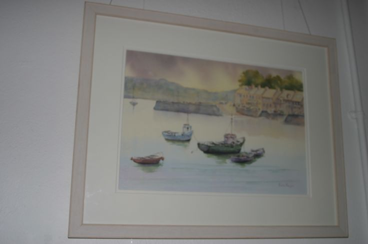 55. Tranquil Evening, Dungarvan, Watercolour, €175 by Kate Hayes