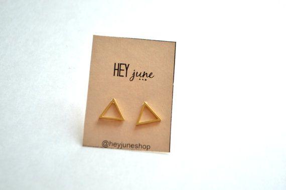 Öffnen Sie Ohrstecker Dreieck, Dreieck-Ohrstecker, Ohrringe gold offene Dreieck, offene Dreieck Ohrringe, minimalistischen Ohrringe Silber,