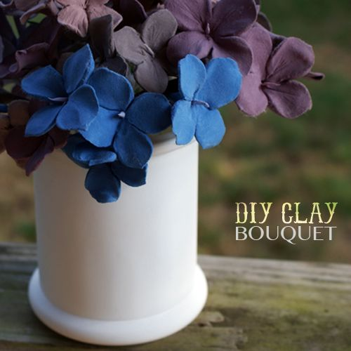 Clay Hydrangeas DIY from @Johnnie (Saved By Love Creations ...