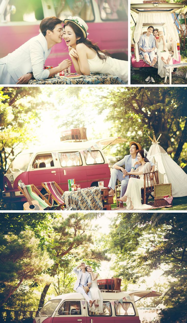Outdoor dating / picnic Korean wedding photography concepts