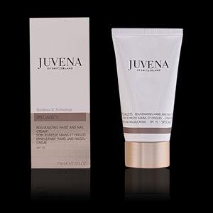 REJUVENATING HAND AND NAIL CREAM di Juvena of Switzerland Di facile assorbimento. ristruttura la barriera protettiva della pelle , leviga, protegge e rinforza le unghie, lenisce le irritazioni e le screpolature, previene le macchie pigmentarie