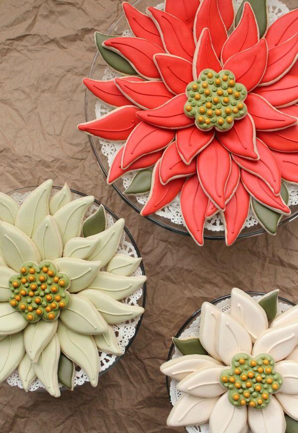 Easy Poinsettia Platter